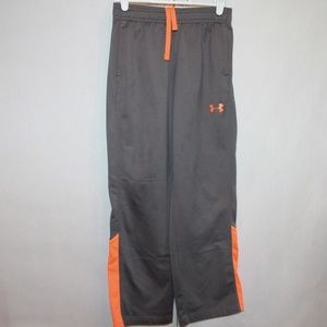 Under Armour Youth Size Medium Gray/Orange Sweats